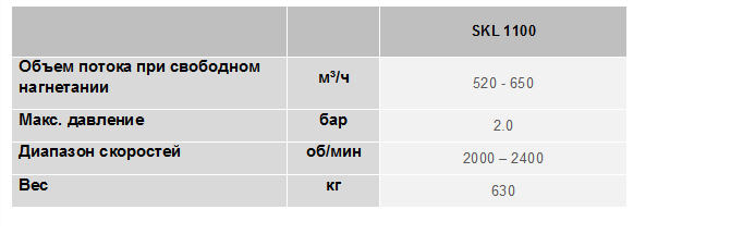 SK 1 100 ДВС table